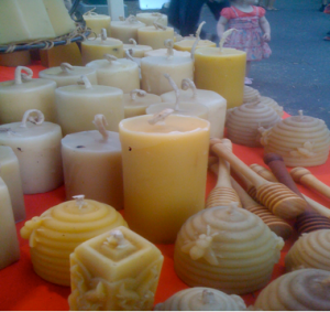 Bees wax candles1